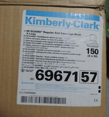 KIMBERLY CLARK HI GUARD REGULAR FULL COVERAGE XL BOOT 69671 3 Boxes of 150