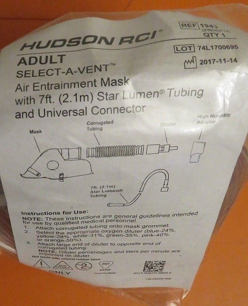 Hudson-RCI-Select-A-Vent-Air-Entrainment-Mask-Adult-Delivery-Ref-1943  Hudson-R