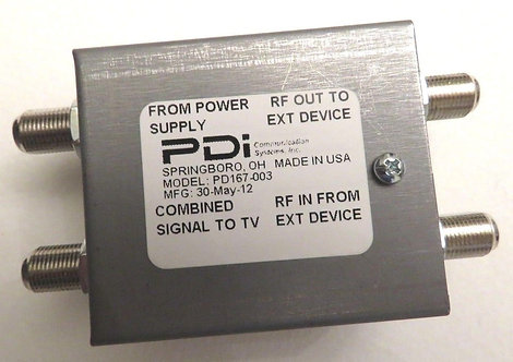 PDI Communication Systems PD167-003 POWER PASSER FILTER
