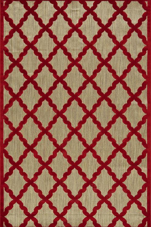 Feizy- Raphia I- Tan/Red