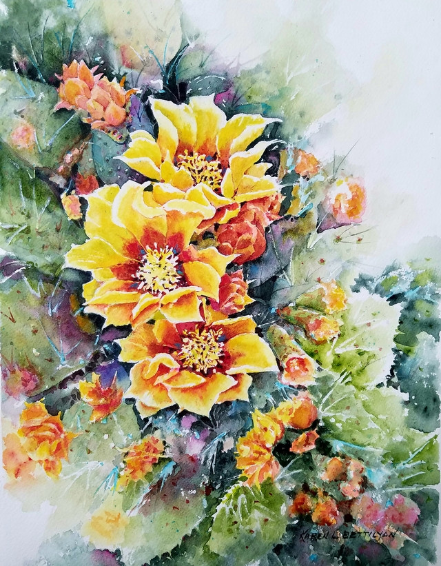 Yellow Cactus Morning