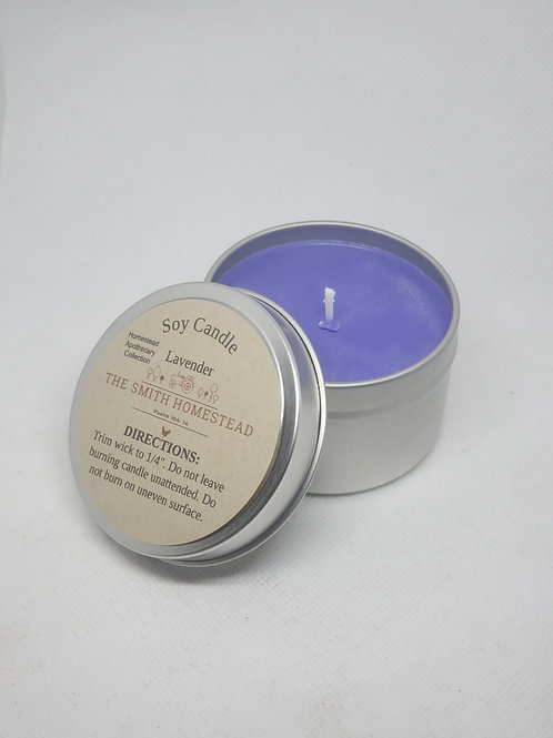 Lavender soy wax candle. 6oz.
