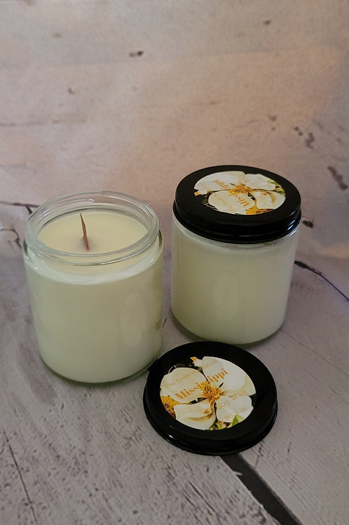 Mississippi (magnolia scented) 10 oz wooden wick