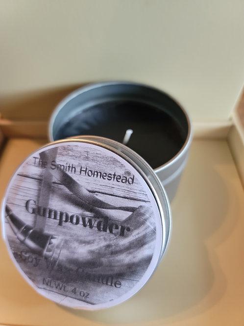 Gunpowder scented 4 oz candle