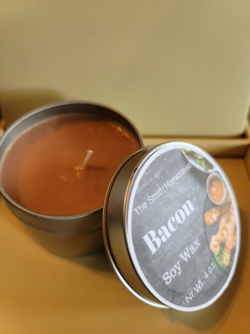Bacon scented 4 oz candle
