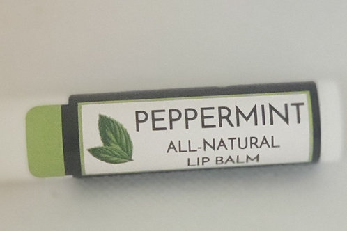 All natural lip balm with peppermint essential oils