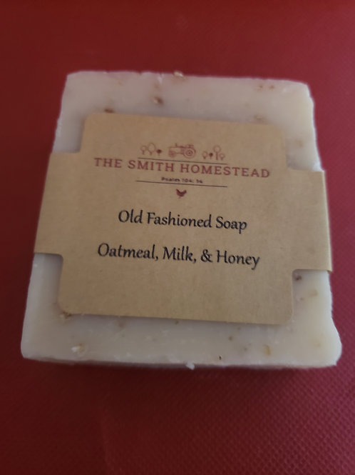 Oatmeal, milk, & honey old fashioned soap