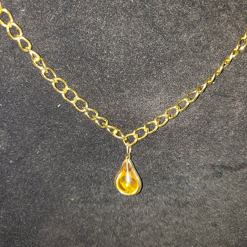 Yellow Tear Drop Necklace