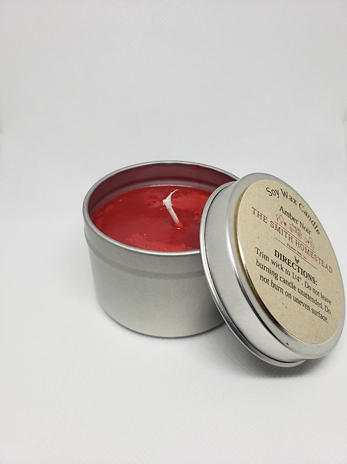 Amber Noir Soy Wax Candle