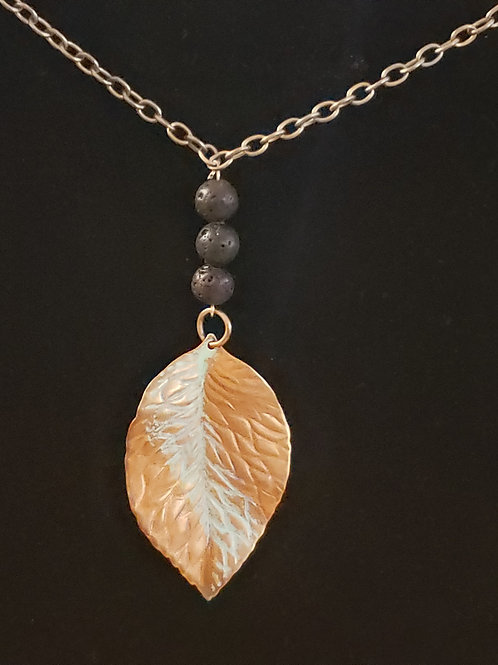 Diffuser Leaf Necklace