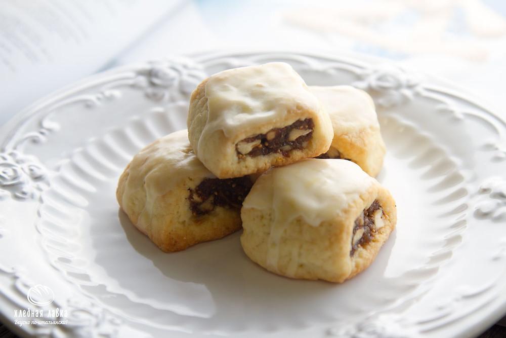 Сицилийское печенье с инжиром и орехами