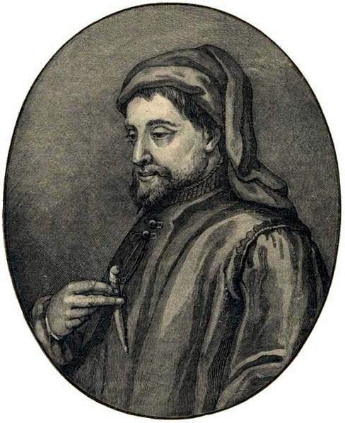 Средневековый английский поэт Джеффри Чосер