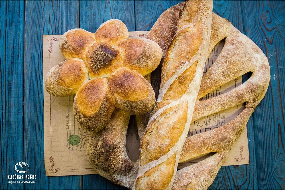 Хлеб недели - Багет, Фугас и Маргарита