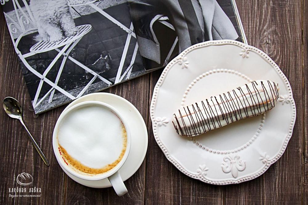 Выпечка недели - Эклеры с белым бельгийским шоколадом