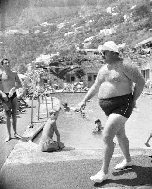 Фарук I на Капри, 1951 год