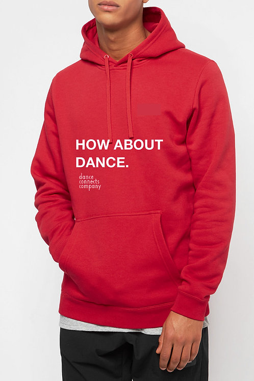 Hoodie How about dance. / Rood