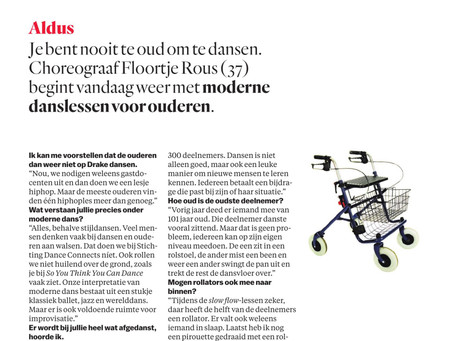 DANCE CONNECTS IN HET PAROOL
