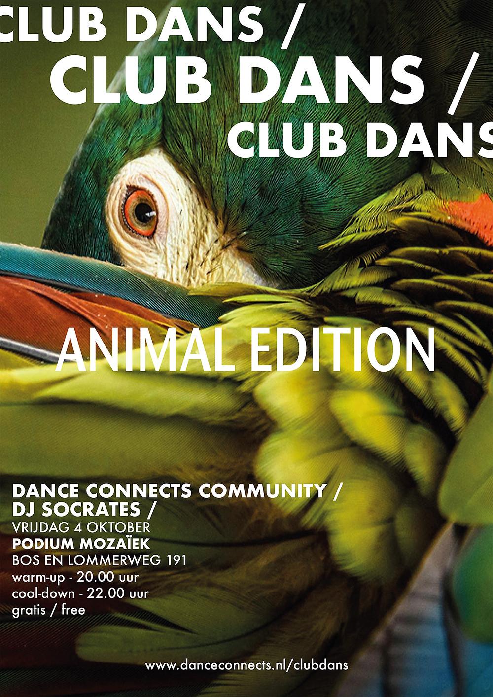Club Dans Animal Edition Poster Vormgeving Marieke Josselet