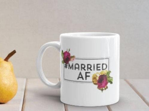 Married AF ceramic mug