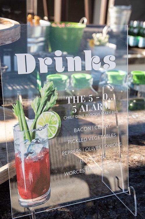 Custom acrylic bar sign 11x14