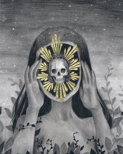 """Visions"" original drawing Framed"
