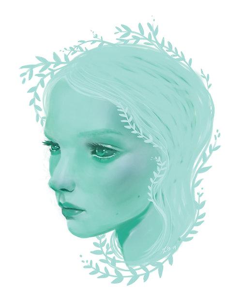 Chlorophyll Embellished Print Framed