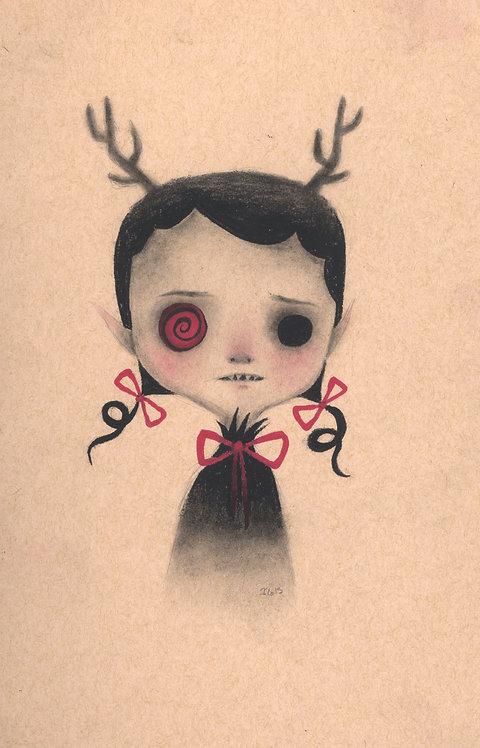 """""""Reindeer"""" original drawing"""