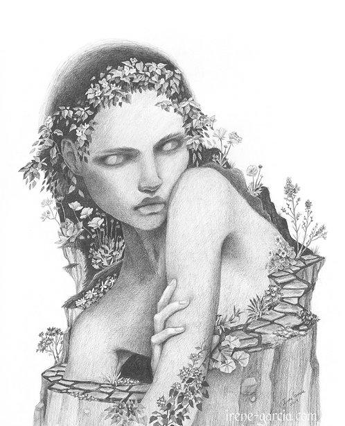 Trapped in Eden Original Drawing Framed