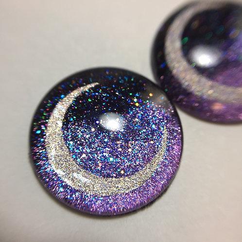 Crescent Moon-Purple Eyechips