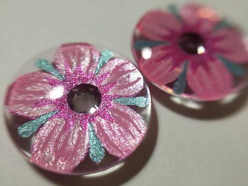 Crystal Flowers- Pink