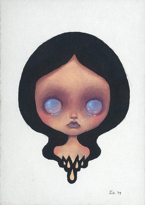 Blue Eyed Girl Original Painting