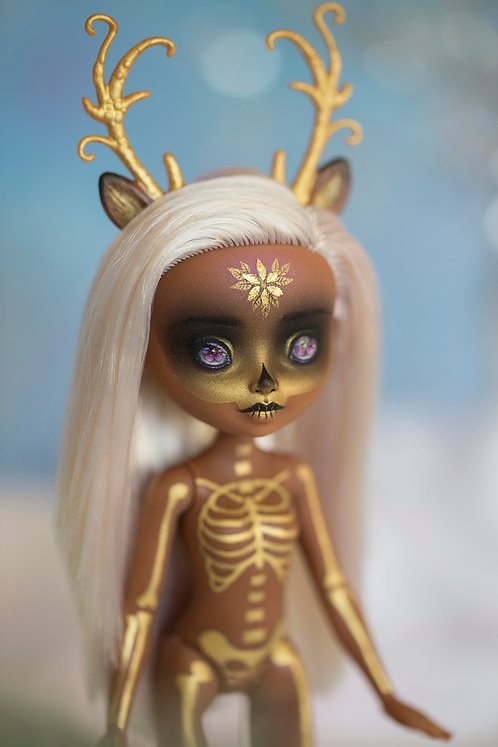 """""""Deer in the Snow"""" custom Ever After doll"""