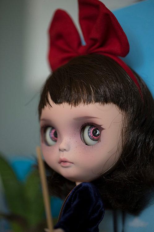 """Kiki"" custom Blythe doll by Sirenita Dolls"