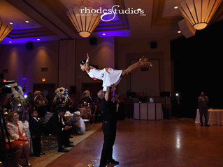 Fantastic dancing moves from this couple on their wedding day!