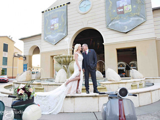 Lisa and Claudio's wedding at Portofino Bay Hotel!