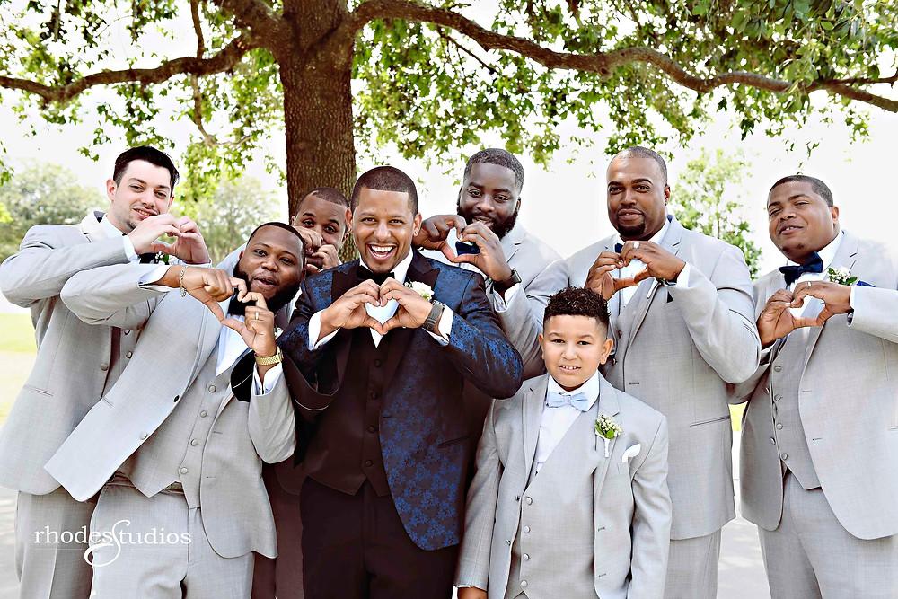 Groomsmen portraits at Orlando Omni Championsgate, Orlando wedding photography