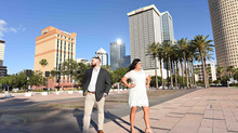 Downtown Tampa engagement session and love story: Kristine and Kevin's