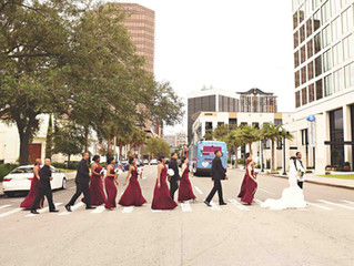 Downtown Orlando City Wedding
