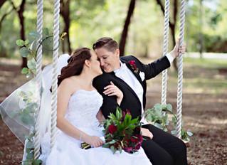 Rebecca and Sabrina's romantic wedding at Harmony Preserve!