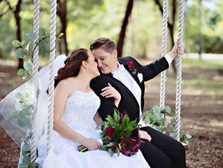 Rebecca and Sabrina's romantic wedding at Harmony Preserve!