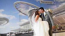 Unique wedding! Terminal C at Orlando International Airport!