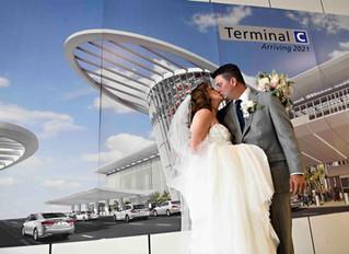 Unique wedding! Terminal C at Orlando International Airport!