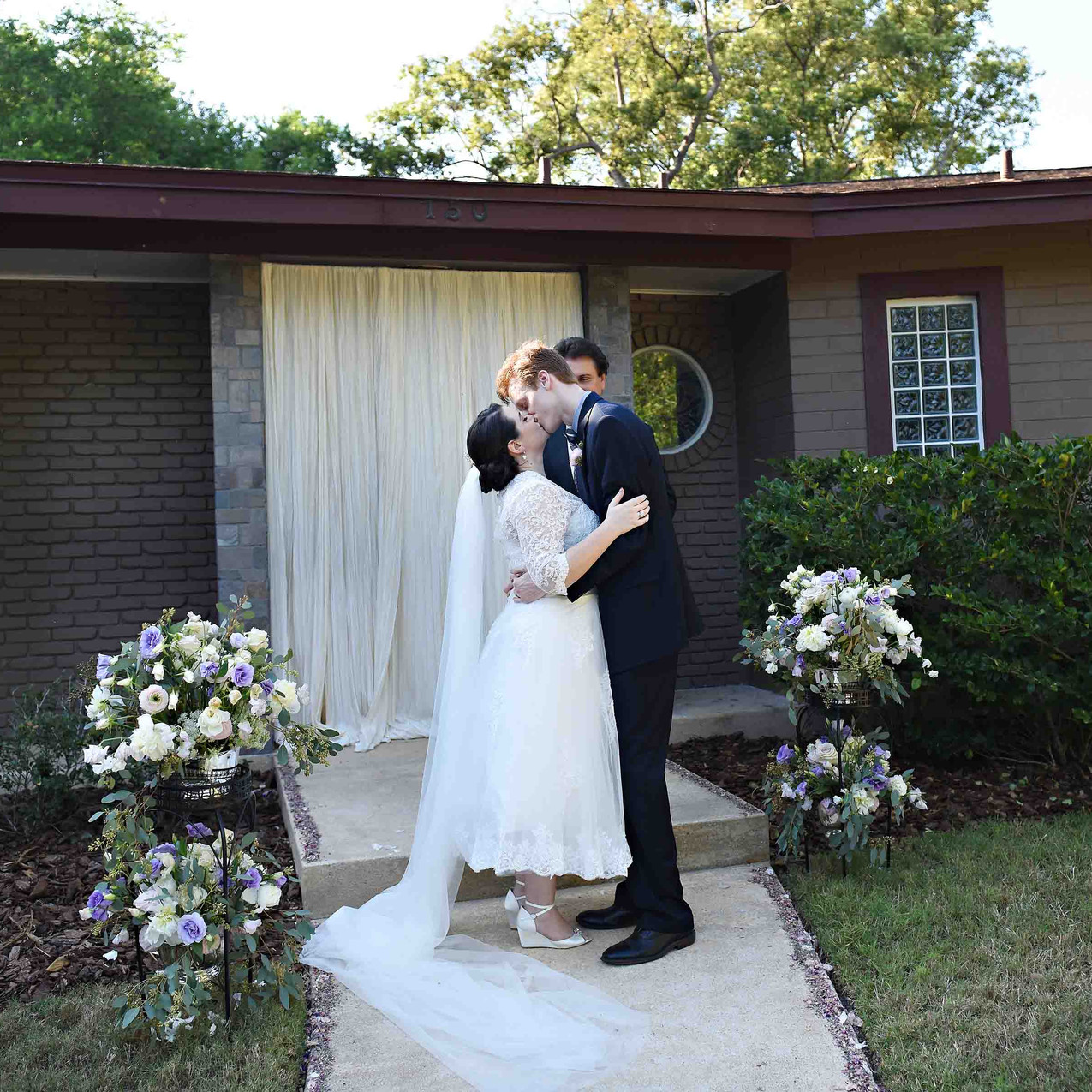 Intimate home wedding