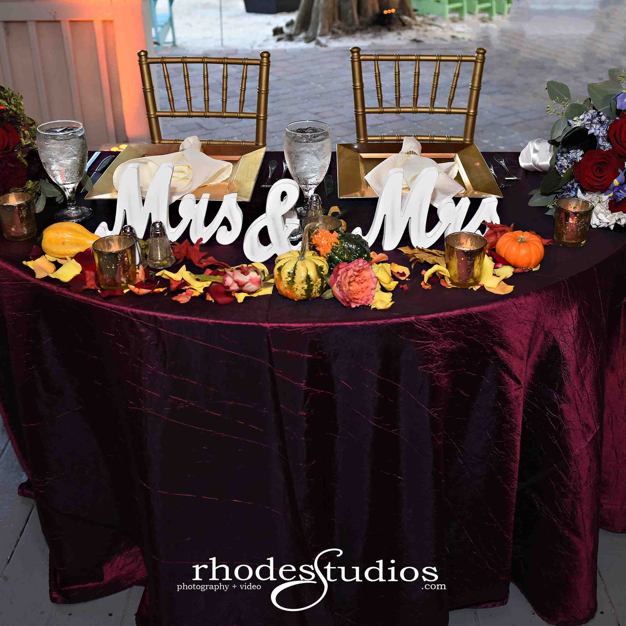 Perfect fall sweetheart table