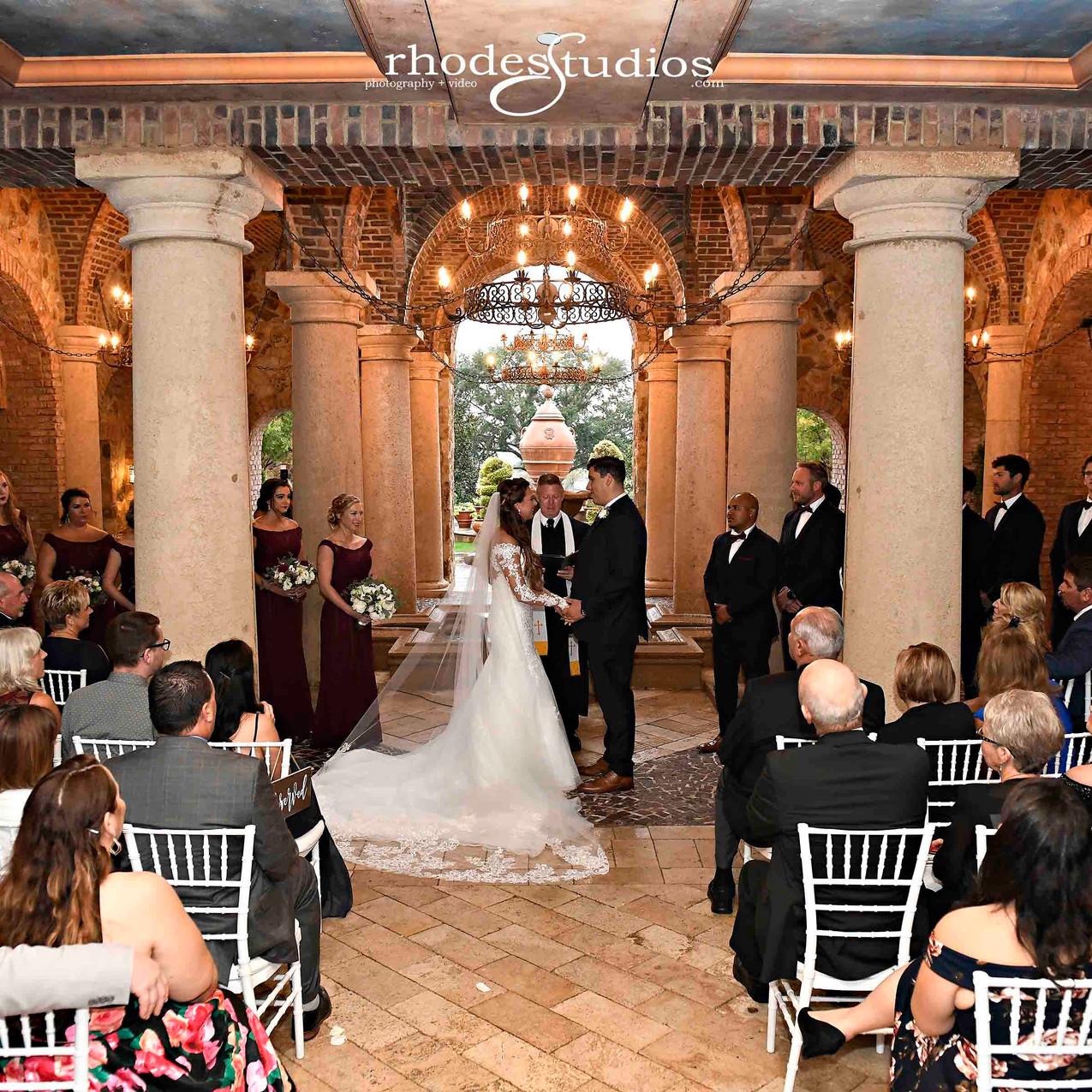 Lovely atrium wedding