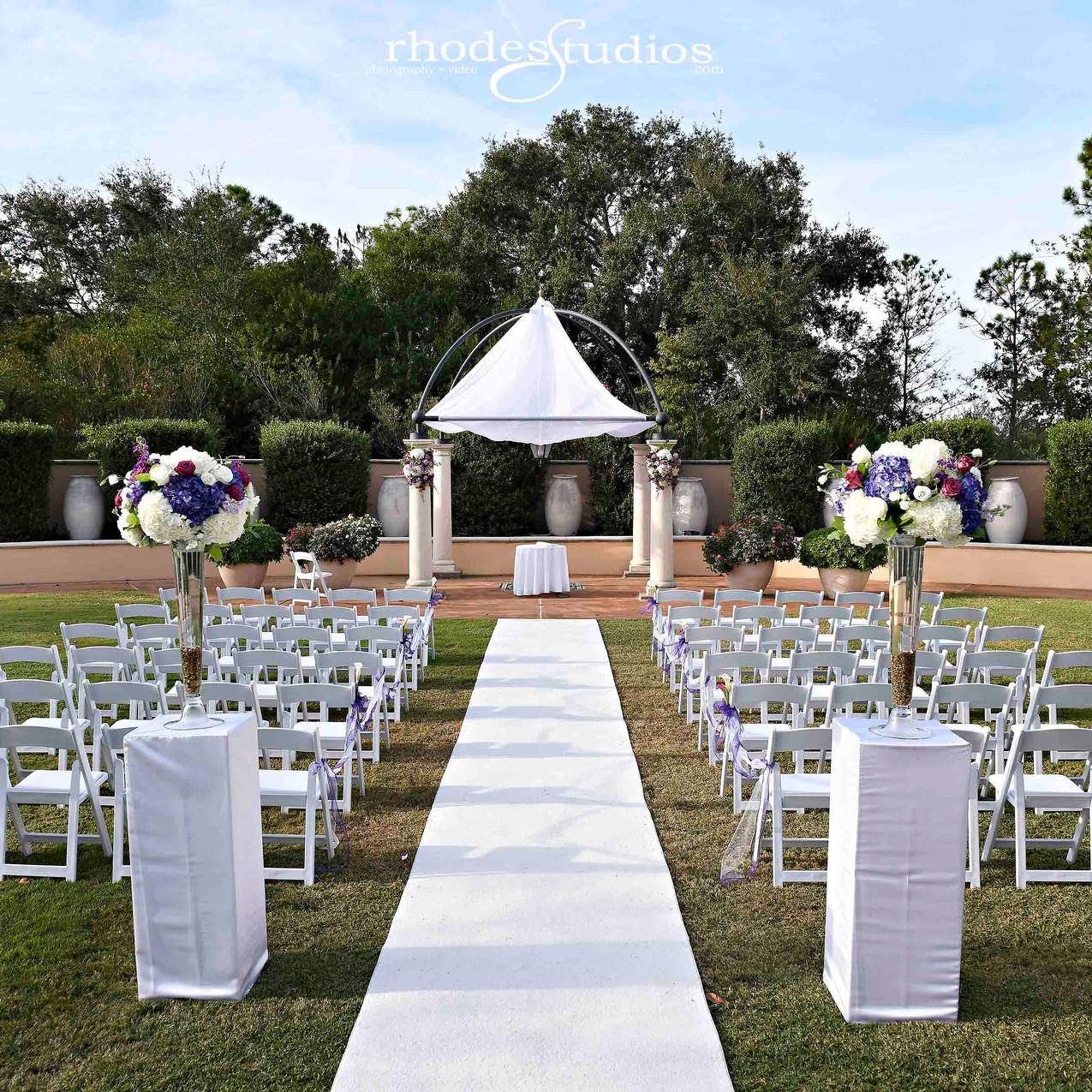 Beautiful ceremony site
