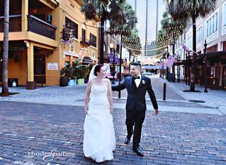 Megan and Ciro's wedding at The Orange County Regional History Center!