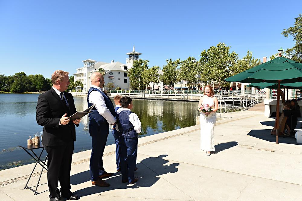 Intimate wedding couple Celebration, FL
