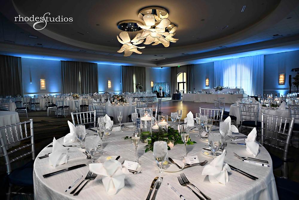 Reception wedding details in the Grand Ballroom at Orlando Omni Championsgate, Orlando wedding photography