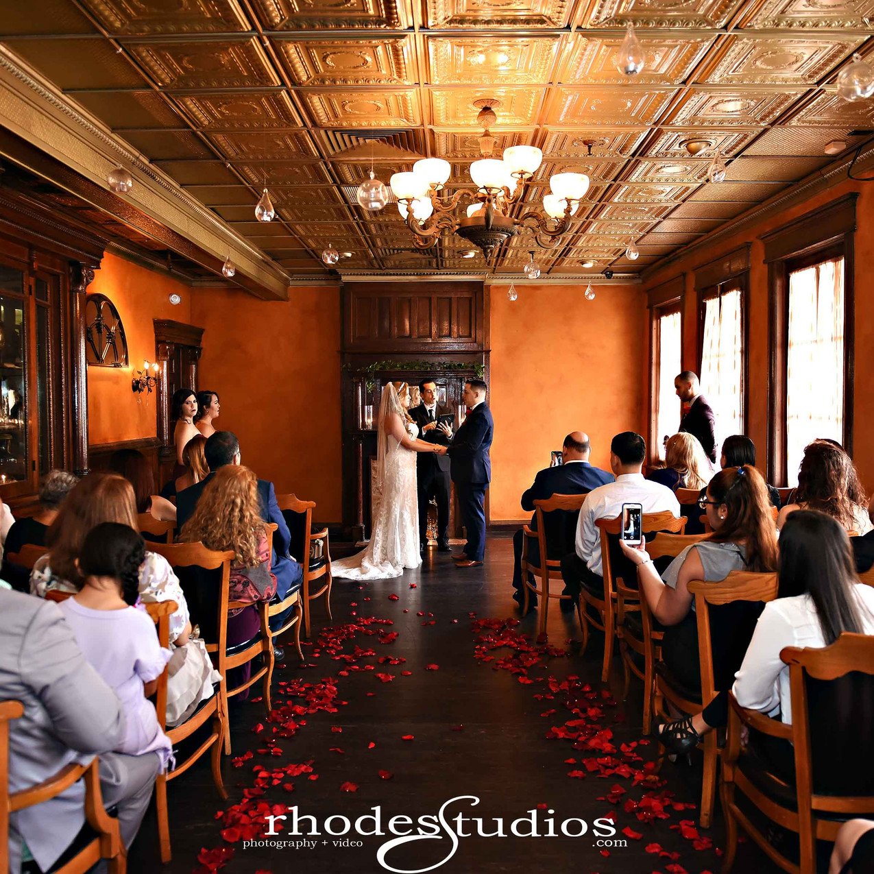 Wedding ceremony at Ceviche